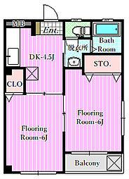 ピュアハウス1[2階]の間取り