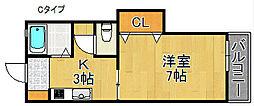 サンメイトA・B棟[1階]の間取り