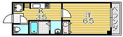 大阪府茨木市別院町の賃貸マンションの間取り