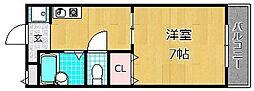 ラヴェニュー西牧野[3階]の間取り