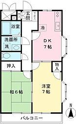 京王ラフィネ東府中[2階]の間取り