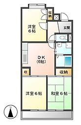 愛知県名古屋市守山区向台3丁目の賃貸マンションの間取り