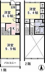 Hi-ROOMS桜上水A[3階]の間取り