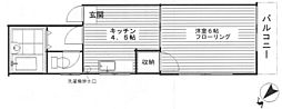 栗原6丁目アパート[201号室]の間取り