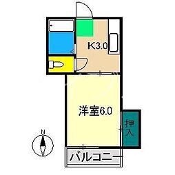 プレステージ仲田[2階]の間取り