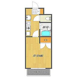 Fuji Mansion Excel 〜フジマンションエクセ[205号室]の間取り