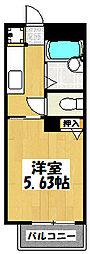 大阪府大阪市鶴見区焼野2丁目の賃貸アパートの間取り