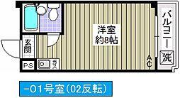 アミニティ吉永[201号室]の間取り