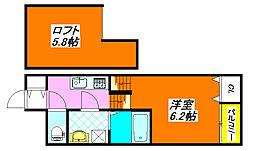 SKHコーポD 201号室[2階]の間取り