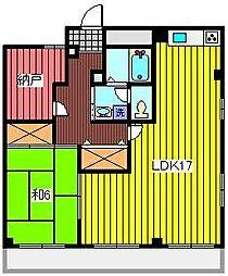 埼玉県さいたま市浦和区木崎1丁目の賃貸マンションの間取り