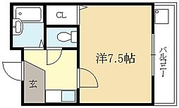メゾンヒラキ[1階]の間取り