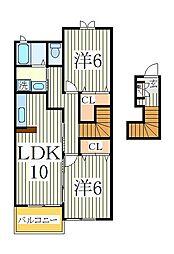 スマートビラ[2階]の間取り