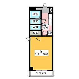 モンレーブ葵東II[4階]の間取り