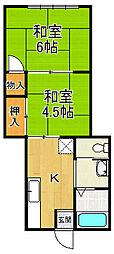 丸三マンション[2階]の間取り