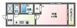 大阪府大阪市東住吉区針中野3丁目の賃貸マンションの間取り