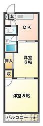 東京都武蔵野市吉祥寺南町5丁目の賃貸マンションの間取り