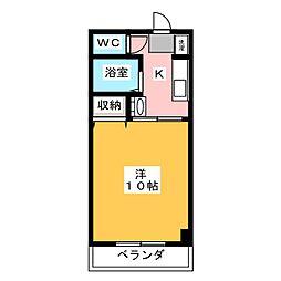 アジュール下中野[4階]の間取り