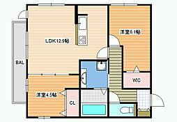 (仮称)D-room沢田2丁目[2階]の間取り