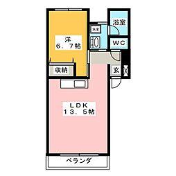 インクリース アビス[2階]の間取り