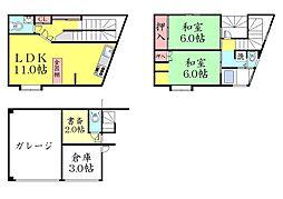 [一戸建] 兵庫県神戸市灘区篠原北町4丁目 の賃貸【/】の間取り
