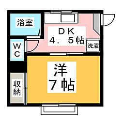リバーハウス  B棟[1階]の間取り