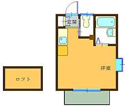 リトルハウス[202号室]の間取り