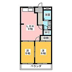 メープルタウン A[1階]の間取り