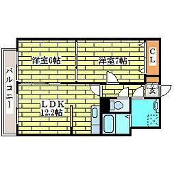シャイニングライブII[1階]の間取り