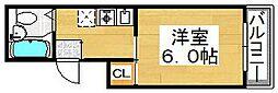 ヴィラ堺[2階]の間取り