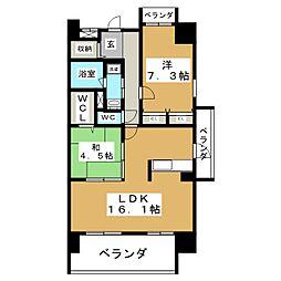 Rapersiz東白壁[9階]の間取り