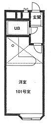 Kベルピア坂戸[1階]の間取り