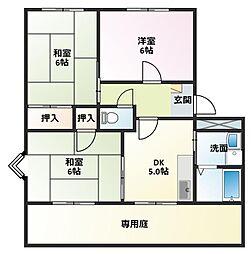パインコートSEIWA B棟[1階]の間取り