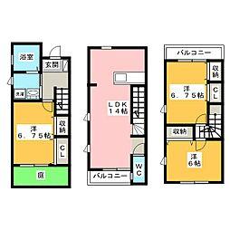 [テラスハウス] 静岡県浜松市中区佐藤2丁目 の賃貸【/】の間取り