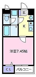 近鉄南大阪線 河内天美駅 徒歩3分の賃貸アパート 2階1Kの間取り