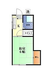 斉藤アパート[202号室]の間取り
