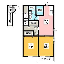 芳菫閣 II[2階]の間取り