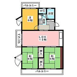 マイシャトー国府台[4階]の間取り