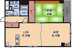 レジデンス野田阪神[5階]の間取り