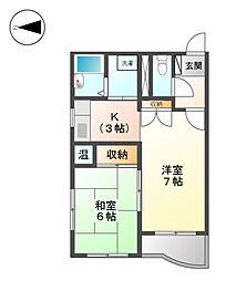 M・K平安[6階]の間取り