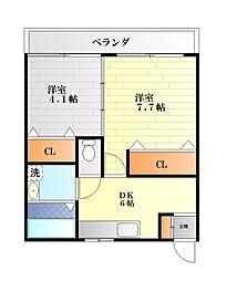 栄田建設森崎ビル[3006号室]の間取り