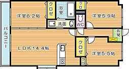 ヴェルデ21[2階]の間取り