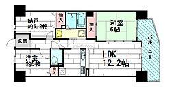 レックスガーデン豊中曽根1番館[2階]の間取り
