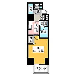 APEX名古屋栄Premier Life[5階]の間取り