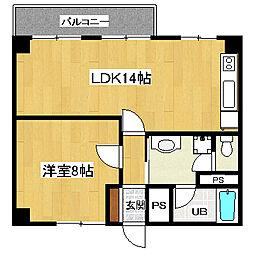 タカラマンションA館[5階]の間取り