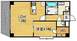 KDXレジデンス天神東II[6階]の間取り
