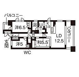愛知県名古屋市瑞穂区洲雲町4丁目の賃貸マンションの間取り