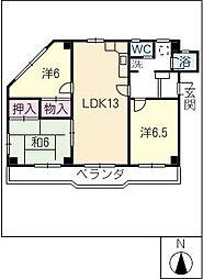 東海マンション[2階]の間取り