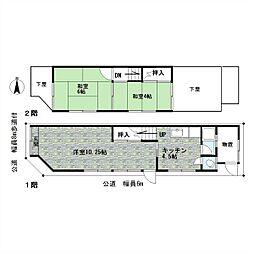 [一戸建] 愛知県名古屋市東区芳野1丁目 の賃貸【/】の間取り