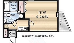 京王線 千歳烏山駅 徒歩10分の賃貸マンション 2階1Kの間取り