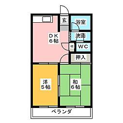 朝倉ハイツ[1階]の間取り